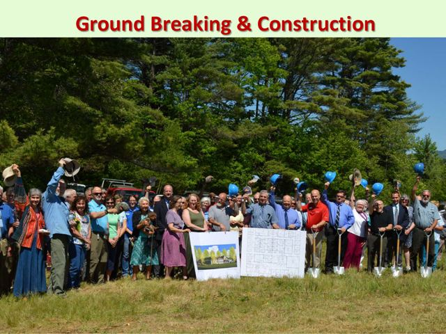 Over 200 people came to the groundbreaking